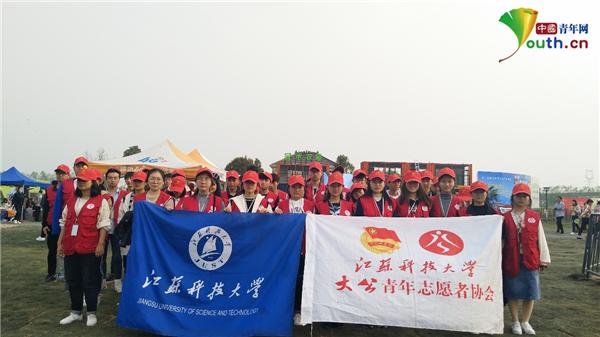 江苏科大志愿者助力镇江市黄明旅游文化节