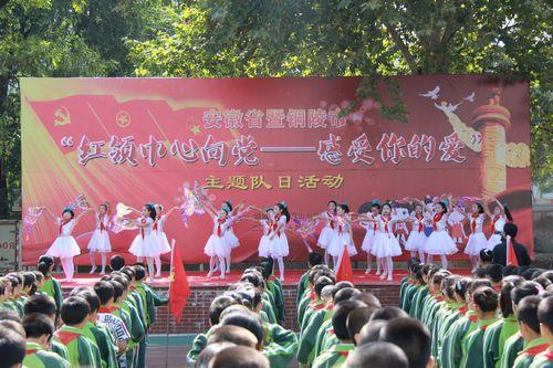 安徽举行红领巾心向党-感受你的爱主题大队好玩小学生图片