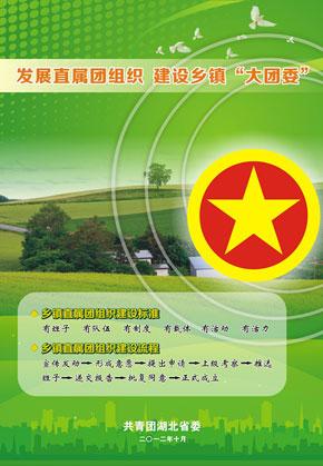 """湖北:印制乡镇实体化""""大团委""""建设宣传海报 30"""