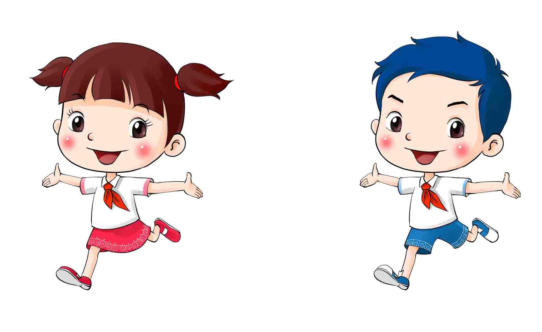 山东少先队员卡通形象 齐齐 鲁鲁 正式发布