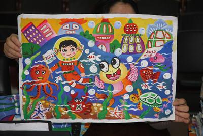 韩国儿童油画棒画