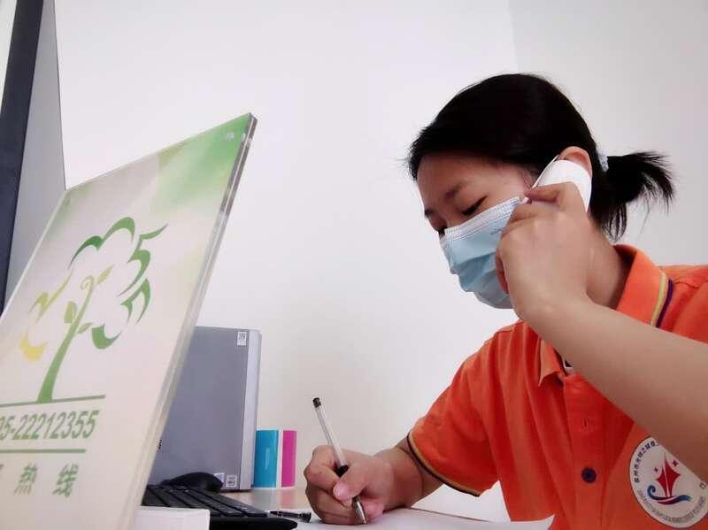 泉州市青少年事务社工投身防疫工作