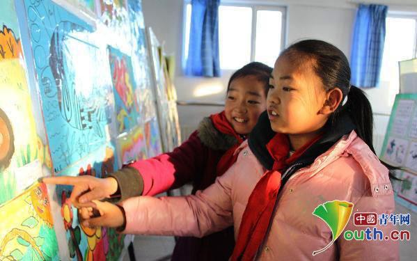 焉耆县举办迎新春少儿书画展活动长城导游词作文小学生。图片